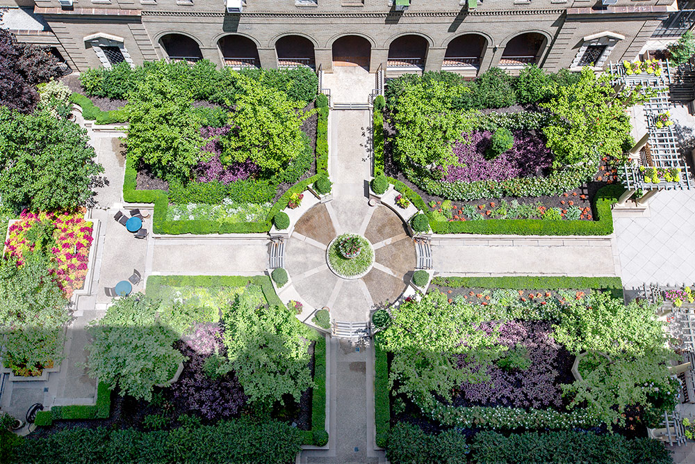 Inspired By Traditional French Parterre Gardens, This Block Long Courtyard  Bursts With Flowering Annuals And Herbs That Reflect The Hardscaping  Symmetry Of ...