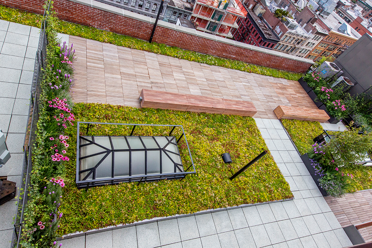Outdoor Sustainable Rooftop - Exterior Landscaping - John Mini