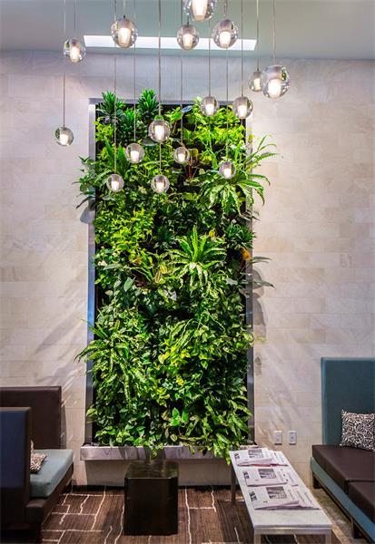 Hotel Lobby Living Wall