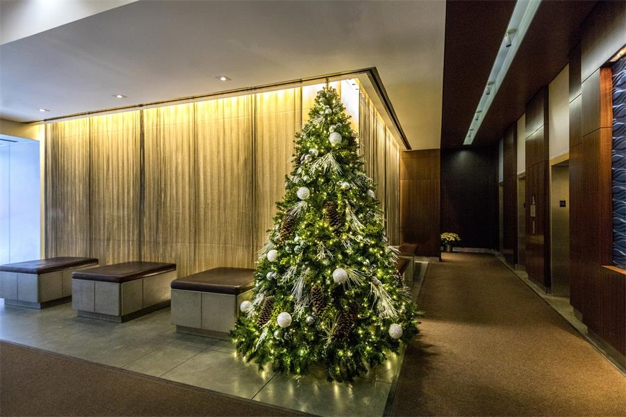 Festive Residential Lobby