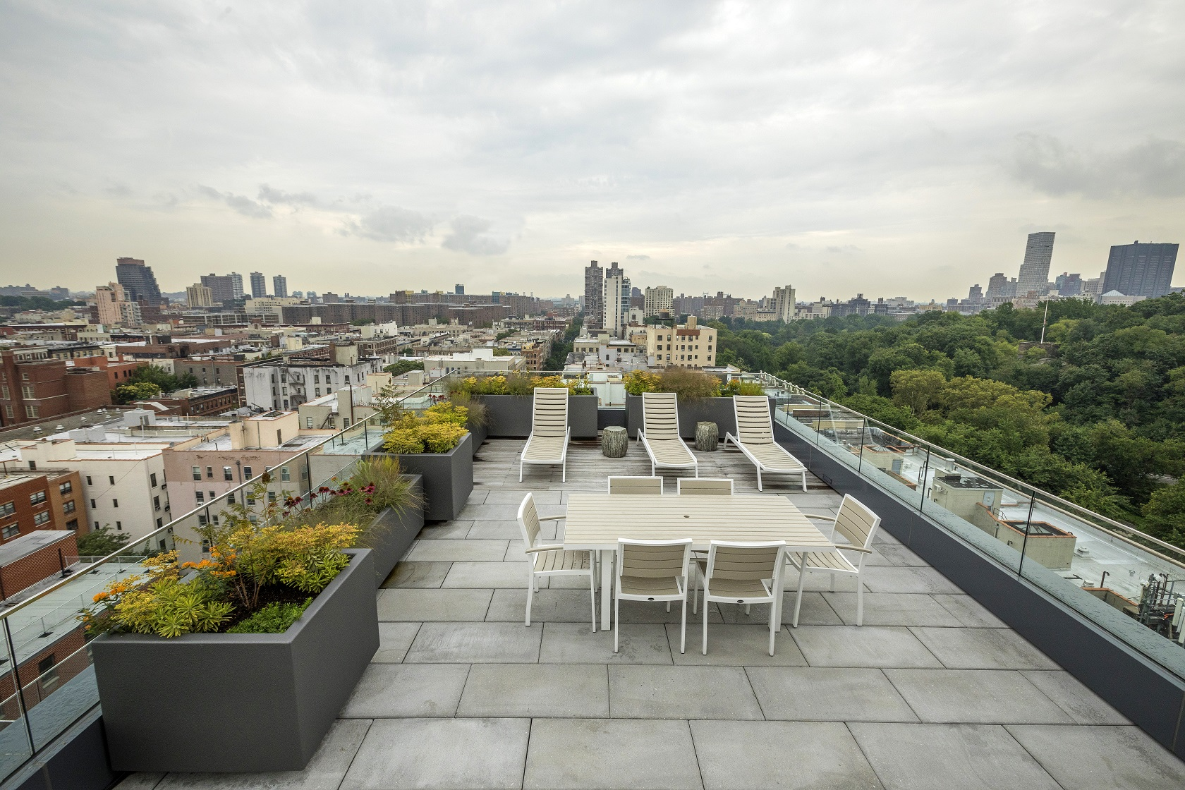 Breathtaking Central Park views are complemented by expertly installed landscape elements, creating a beautiful amenity for the