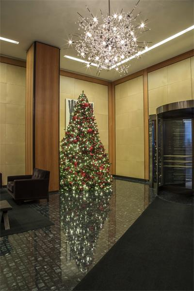 The coordination of refined components compliment the building's ultra-lux decor, and make holiday an extension of the sophisti
