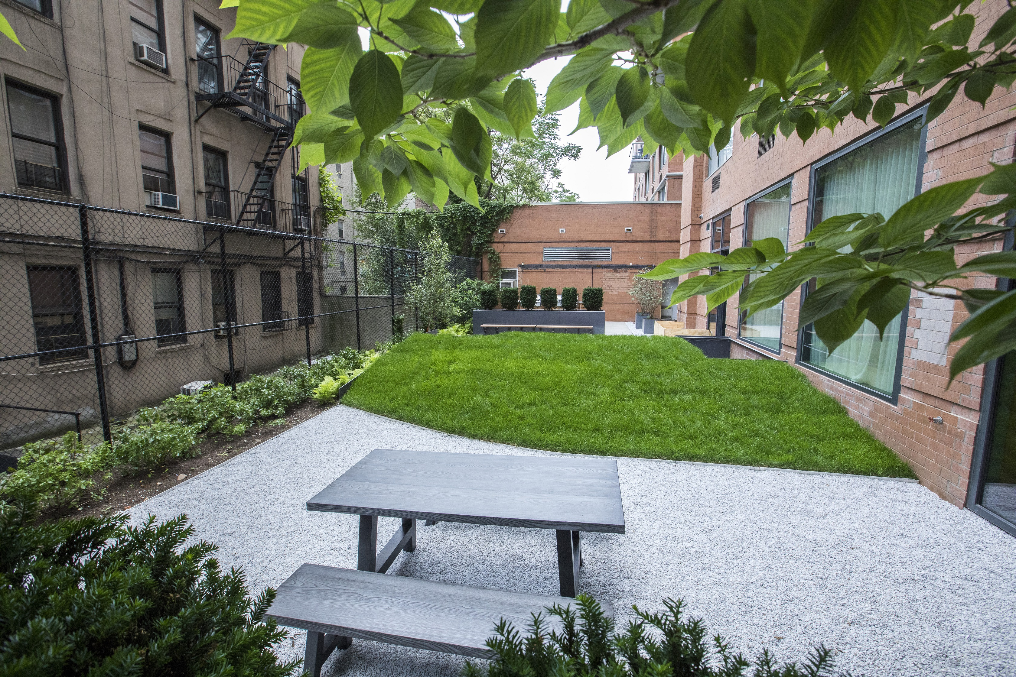 A quite break with a side of fresh air is delivered through this refined courtyard.
